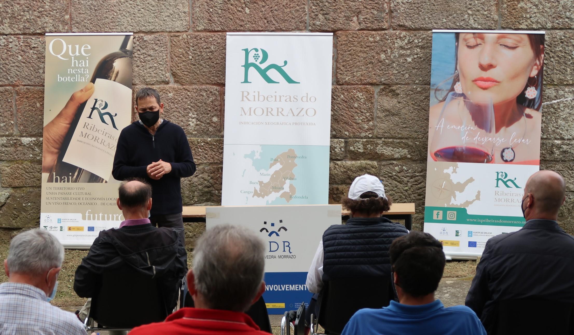 O GDR explora as alternativas para poñer en valor a viticultura de Cela dentro da IXP Ribeiras do Morrazo
